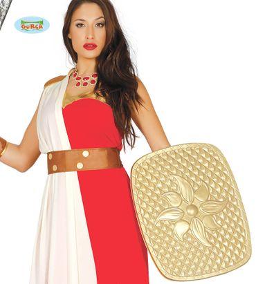 antikes goldenes Schild für Herren Römer Gladiator