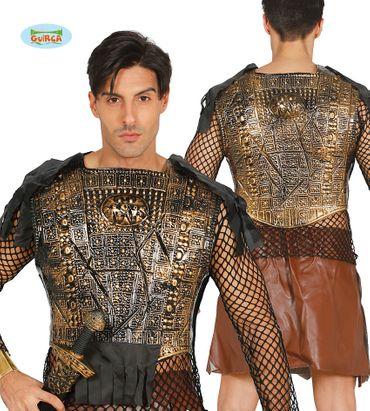 antiker schwarz goldener Brustpanzer für Herren Römer Gladiator