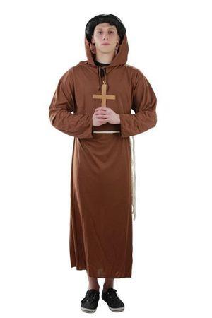 Kostüm Mönch + Kreuz Gr. S - XXXXL
