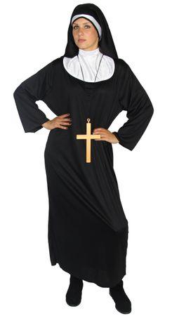 Nonnen Kostüm für Damen + Kreuz Gr. S-XXL