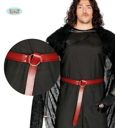 brauner Gürtel mit Ring Mittelalter für Herren