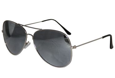 Pilotenbrille Party Brille Pilot cool Aviator Sonnenbrille silber