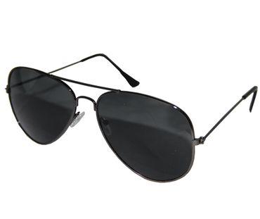 Piloten-Brille, schwarz