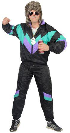 80er Jahre Kostüm Deluxe Trainingsanzug Assianzug