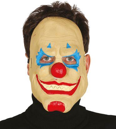 Horror Clown Latex Halbmaske für Erwachsene