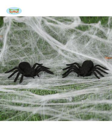 2 Spinnen Spinne Dekoration Halloween ca. 7 x 9 cm