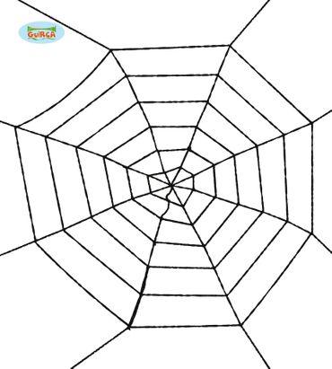 riesiges schwarzes Spinnennetz Halloween Deko 100cm