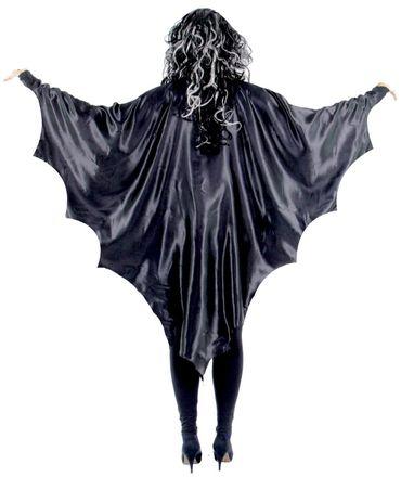 Schwarze Vampirflügel Fledermaus für Kinder