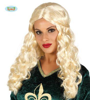 blonde Langhaar Perücke Zopf Popsängerin für Damen
