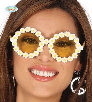 coole Flower Power Hippie Blumenbrille