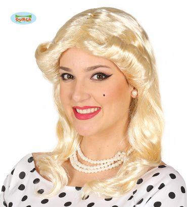 blonde 70er Jahre Locken Perücke für Damen