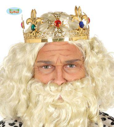 goldene Krone mit Edelsteinen besetzt