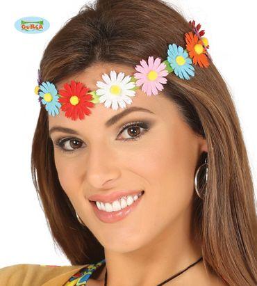 Blumenkranz Kopfband für Damen bunt