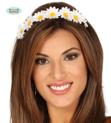 Blumenkranz Haarreif für Damen weiß