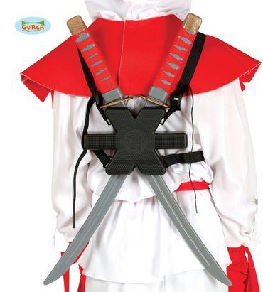Samurai Schwerter Paar mit Halterung für den Rücken Ninja