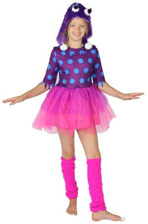 Lila Monster Kostüm für Mädchen Gr. 98 - 140