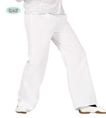 weiße Disco Hose für Herren Gr. M/L