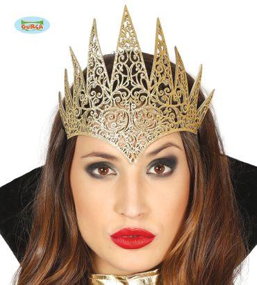 goldenes Diadem Tiara Krone für Damen