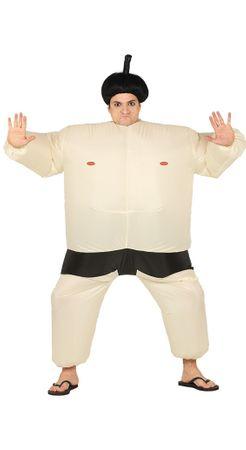 Sumo Ringer aufblasbar - Kostüm für Herren Gr. M/L