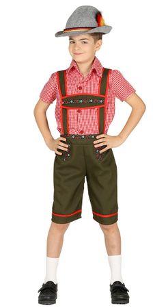 Tiroler Lederhose - Kostüm für Kinder Gr. 110 - 146