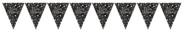 Wimpelkette Sparkling Celebrations gold Happy Birthday