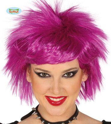 lila Rockstar Punk Perücke für Damen