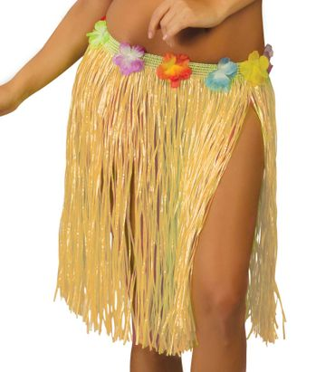 Hawaii Rock mit Blumen für Damen ca. 45 cm