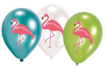 6 Luftballons Flamingo Party Deko