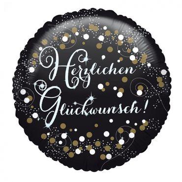 Herzlichen Glückwunsch Sparkling Birthday Folien Balloon, 43cm