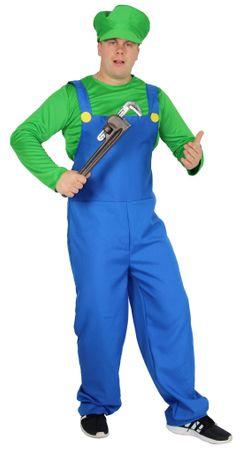 Super Klempner Kostüm für Herren, grün