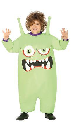 aufblasbarer Monster Kostüm für Kinder Gr. 122/128