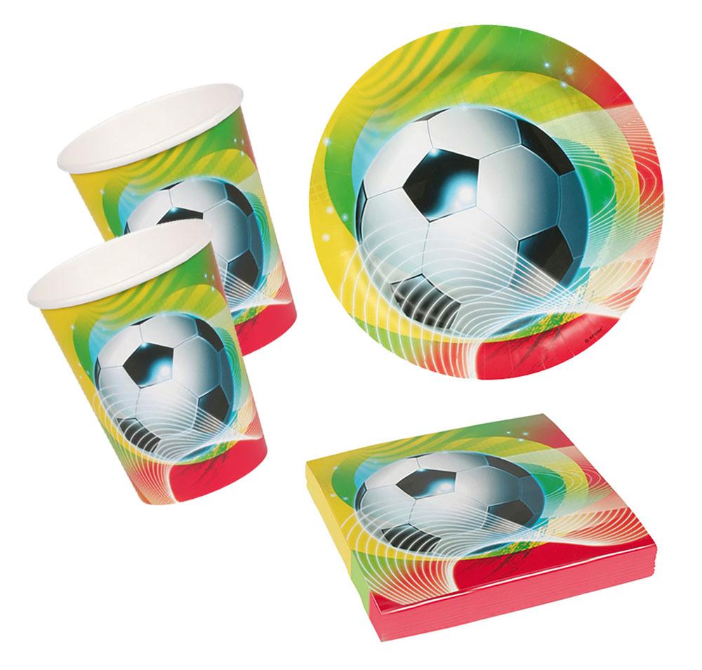Fussball Geburtstags Deko Soccer Party Set Fur 16 Kinder