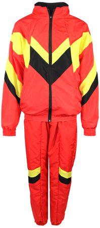 80er Jahre Trainingsanzug Kostüm für Herren - rot gelb schwarz