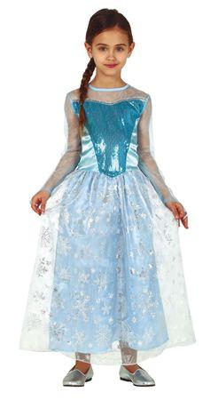 blaues Prinzessin Kleid mit Pailletten für Mädchen