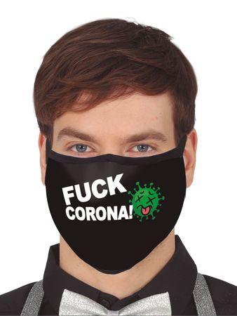 Fuck Corona Mund-Nasen-Masken aus Stoff