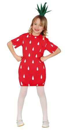 Erdbeeren Kostüm für Mädchen