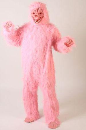 Gorillakostüm pinkes Kostüm Gorilla Tierkostüm Tier pink Affenkostüm King pinker Affe Affen Gorillas Kong Gr. M - L
