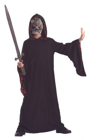 Kostüm Horrorrobe Horrorkostüm Robe Horror Geisterbeschwörer für Kinder Kinderkostüm Halloween Halloweenkostüm Gr. 134/140 - 152/158