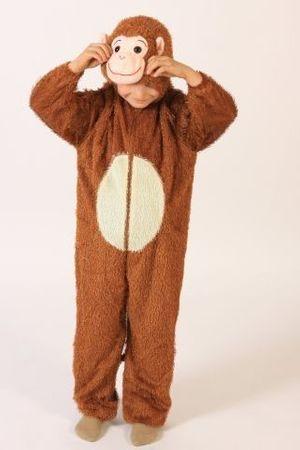 Affenkostüm Kostüm Affe für Kinder Gr. 98 158