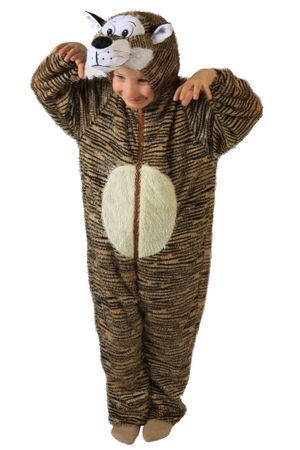Tigerkostüm Kostüm Tiger für Kinder Kinderkostüm Tier Tierkostüm Gr. 98/104 - 134/140
