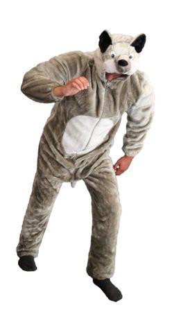 Deluxe Wolf Kostüm Wolfskostüm Damen und Herren
