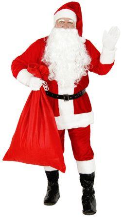 Deluxe Weihnachtsmannkostüm Kostüm Weihnachtsmann Santa Claus Santakostüm Santa Nicki Plüsch rot Gr. M - XXXL