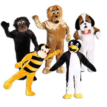 Maskottchen Promotion Lauf Kostüm Affe Hund Biene Löwe Pinguin Gr. 170-190 cm