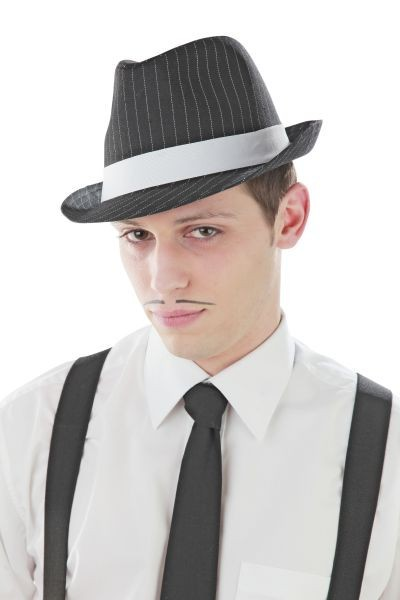 1x  Hut Al Capone SCHWARZ Gangster Mafia Mafiahut 20er Jahre Fasching Kostüm