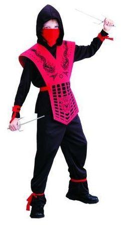 Ninja Kostüm für Kinder Gr. 110 - 158