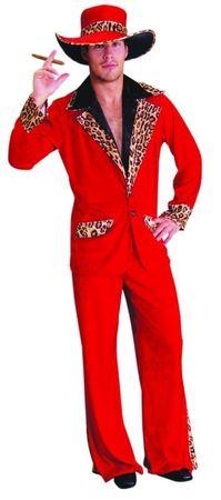 Pimp Daddy Zuhälter Kostüm rot