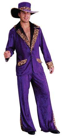 Pimp Daddy Zuhälter Kostüm lila