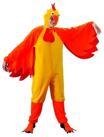 Hühnerkostüm Huhn gelb Erwachsene