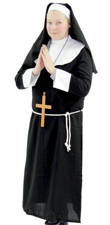 Deluxe Damen Nonnen Kostüm Gr. M - XXXXL