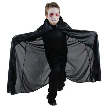 Vampir Umhang für Kinder Gr. 152 - 170